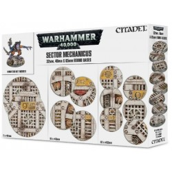Sector Mechanicus: 32, 40, 65mm Industrial Bases Box Cover