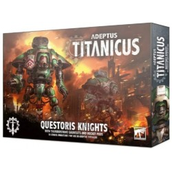 Adeptus Titanicus: Questoris Knights with Thunderstrike Gauntlets and Rocket Pods Box Cover
